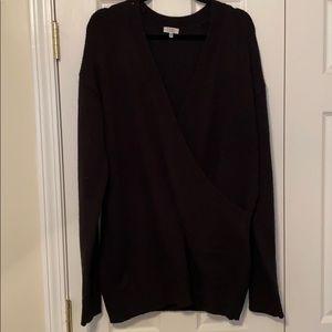 Tobi Black Winter Romance Oversized Sweater Dress